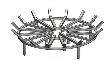 Stainless Steel Fire Pit Grate | Round Fire Pit Grate