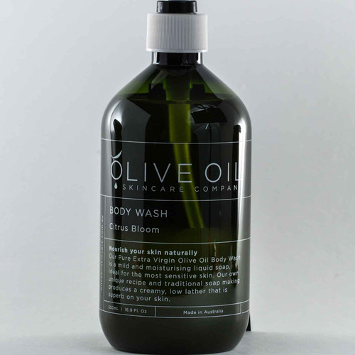 Squizito Tasting Room Olive Oil Citrus Blossom Body Wash 100 perfect Extra Virgin Olive Oil