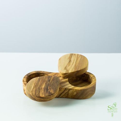 Olive Wood - 3 Section tray
