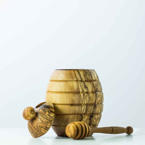 Buy Honey Jar with Dipper Olive Wood from Squizito Tasting Room