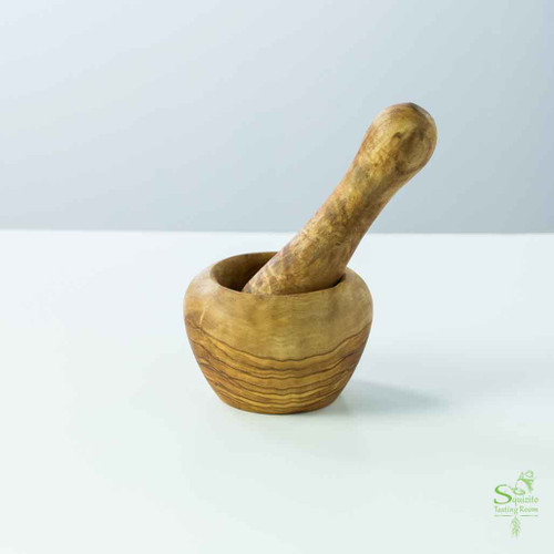 Buy Mini Mortar & Pestle made from Olive Wood at Squizito Tasting Room