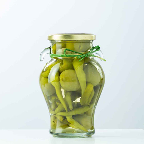 Buy Delizia Stuffed Olives Garlic and  Green Chili from Squizito Tasting Room