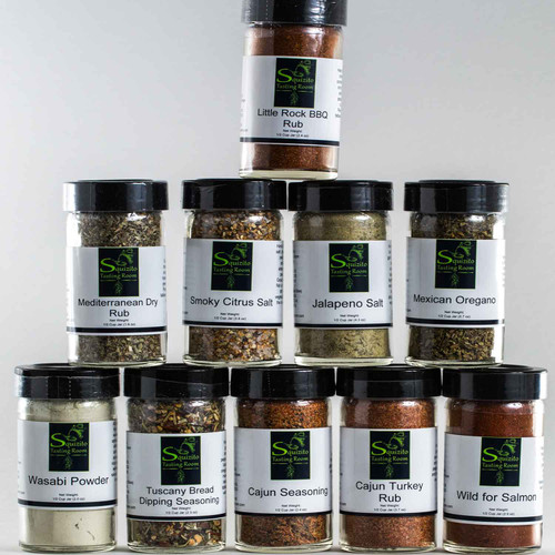 Hand Blended Spices Sold Exclusively at Squizito Tasting Room