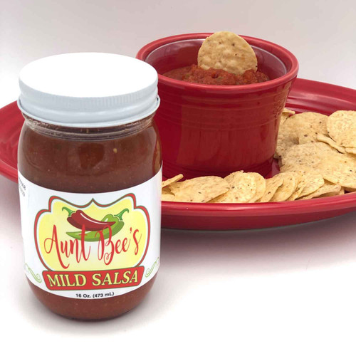 Aunt Bee's Mild Salsa Sold Exclusively at Squizito Tasting Room