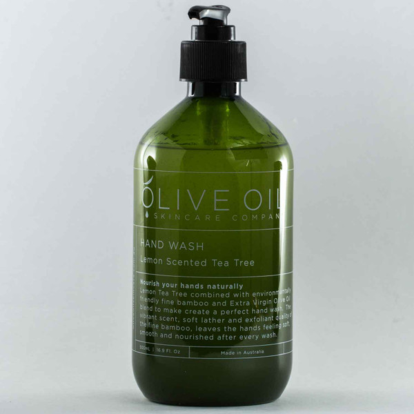Squizito Tasting Room Olive Oil Lemon Scented Tea Tree Hand Wash 100 perfect Extra Virgin Olive Oil