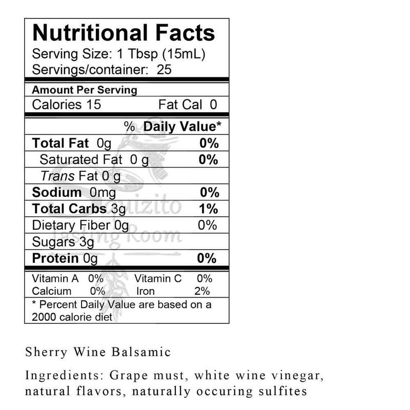 Nutrition Information Sherry Wine Vinegar