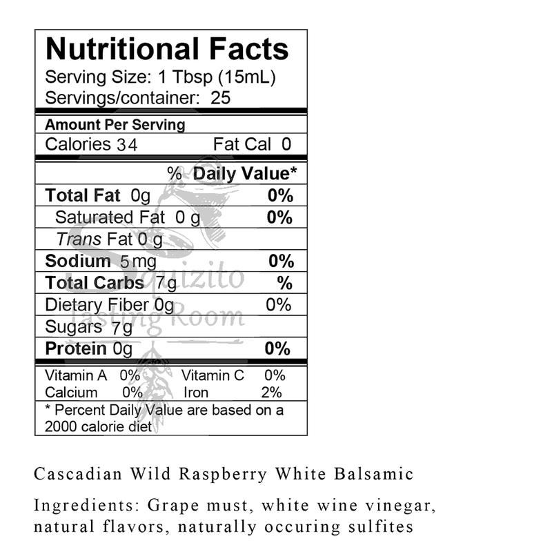 Cascadian Wild Raspberry White Balsamic Nutrition Facts