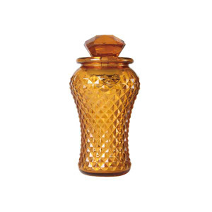 Tall Bottle Lamp Amber