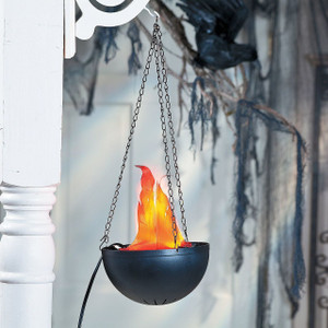 LED Silk Flame Cauldron Light