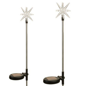 Starburst Solar Powered Garden Stake LED Light (Set of 2)