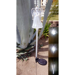 Solar Powered Flashing LED Light Angel Garden Stake