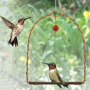 Copper Hummingbird Swing  | 2Shopper.com