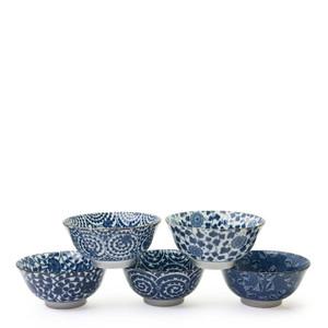 Karakusa Five Pattern Bowl Set