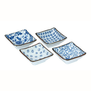 Blue & White Sauce Dish Set