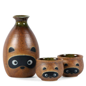 Tanuki Raccoon Sake Set
