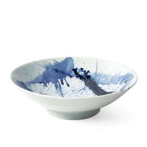 Blue Sumi Serving Bowl