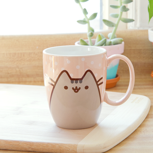 Pusheen The Cat Polka Dot Ceramic Mug 12 oz