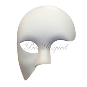 Phantom of the Opera Mask, White