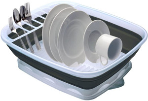 Progressive Collapsible Dish Rack with Drain Board, CDD-100