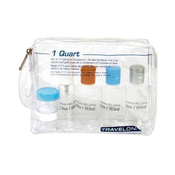 1-Quart Zip-Top Bag with Plastic Bottles