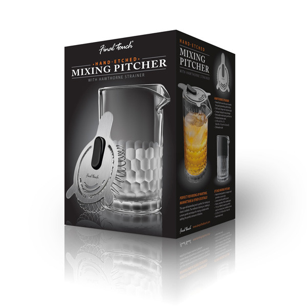 Glass Mixing Pitcher & Strainer