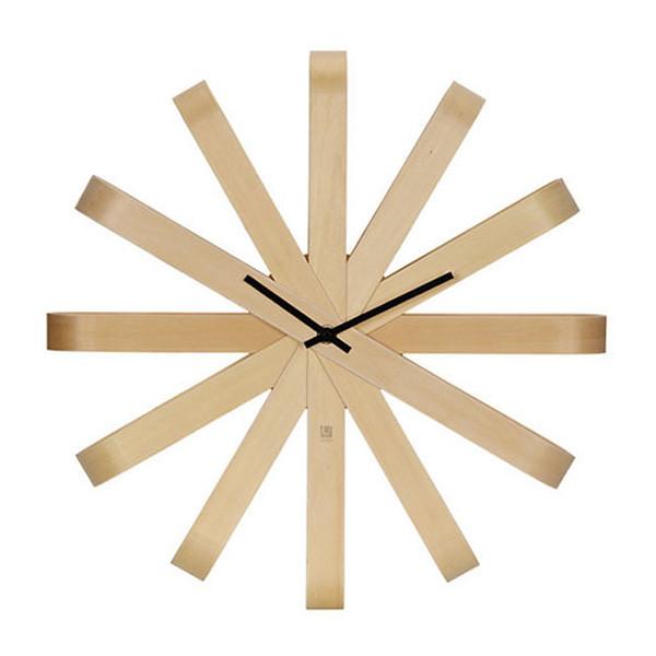 Ribbon Wall Clock, Natural