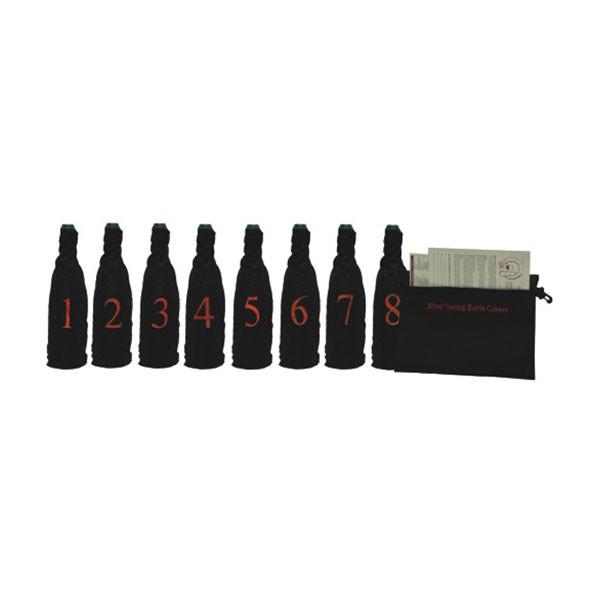 Blind Wine Tasting Kit w/ Pouch for 8 Bottles