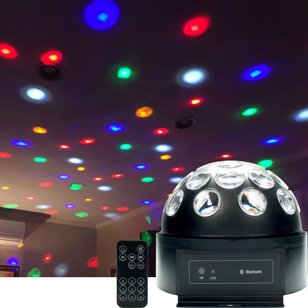 Dome LED Disco Ball with Bluetooth Speaker