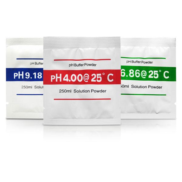 pH Meter Buffer Solution Powder Set, 3 Pack