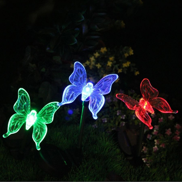 Solar Powered Butterfly Color Changing Garden Stake | 2shopper