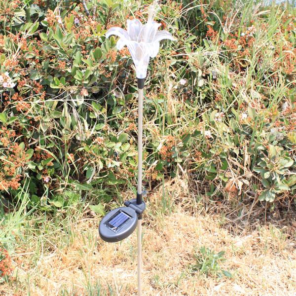 Solar Lily Flower Garden Stake Color Change Light  | 2Shopper