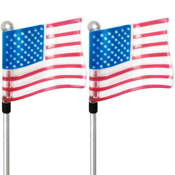 U.S. Flag Solar Powered Garden Stake | 2Shopper