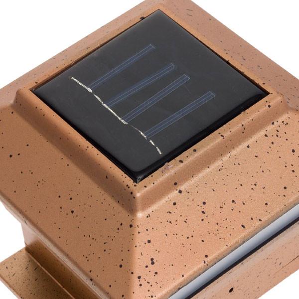 Plastic Copper Square Post Deck Fence Mount Light    2shopper
