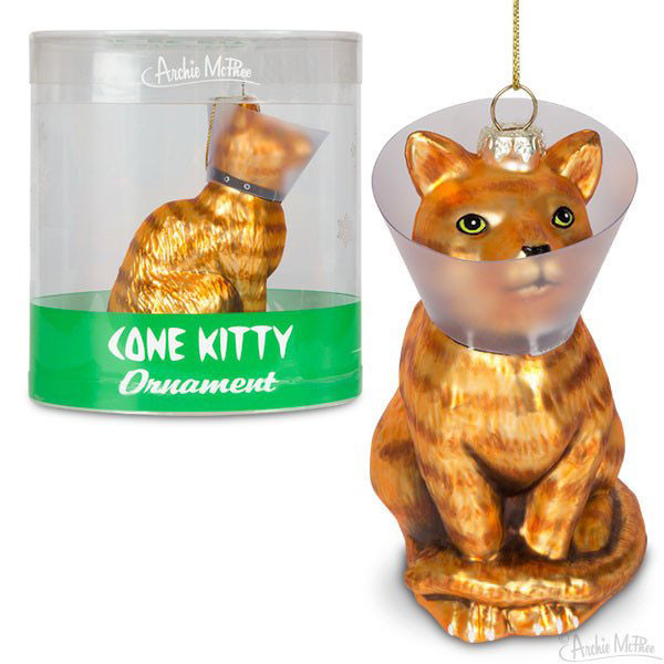Cone Kitty Ornament