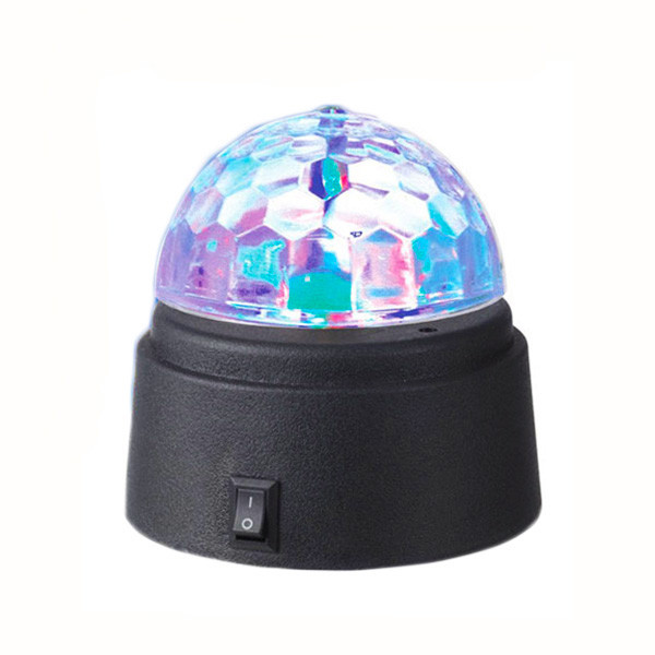 Battery-Operated Rotating Crystal Ball LED Light