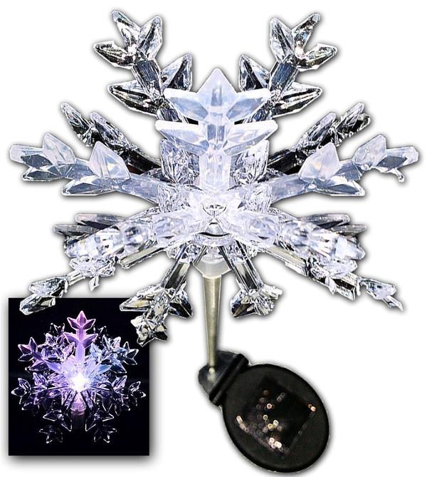 Snowflake Solar Light Stake (Set of 2)