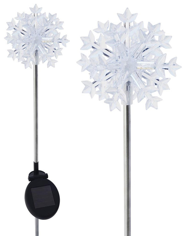 Snowflake Solar Light Stake (Set of 2)