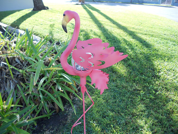Pink Flamingo Garden Stake Solar Light