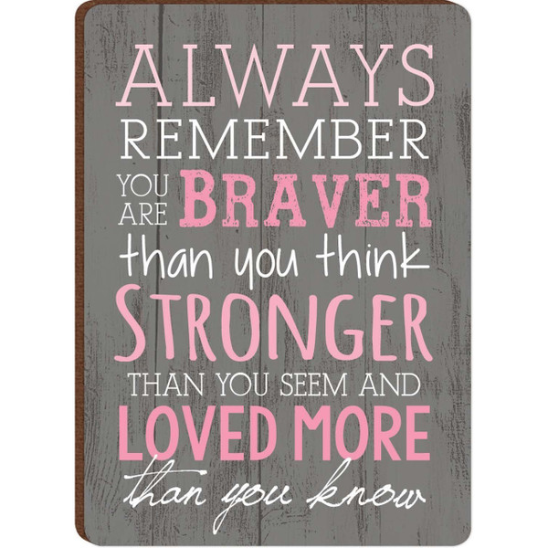 Always Remember You Are Braver Than You Think Magnet