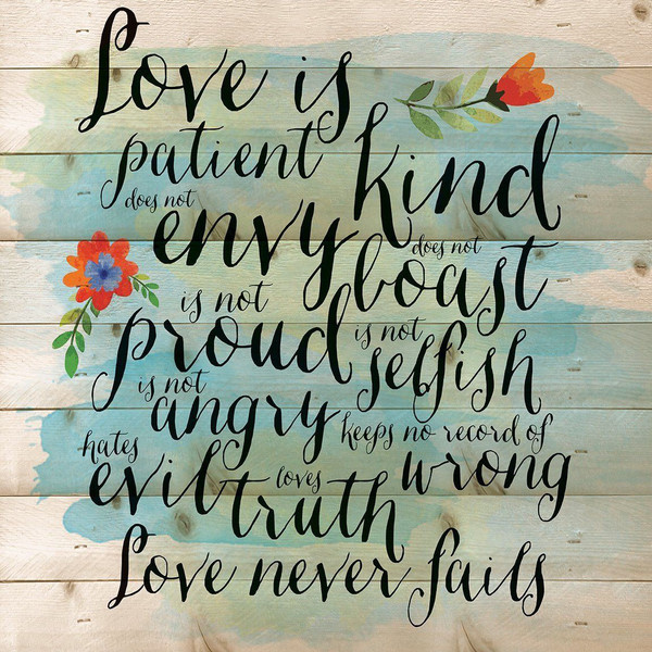 Love Is Patient Pallet Art