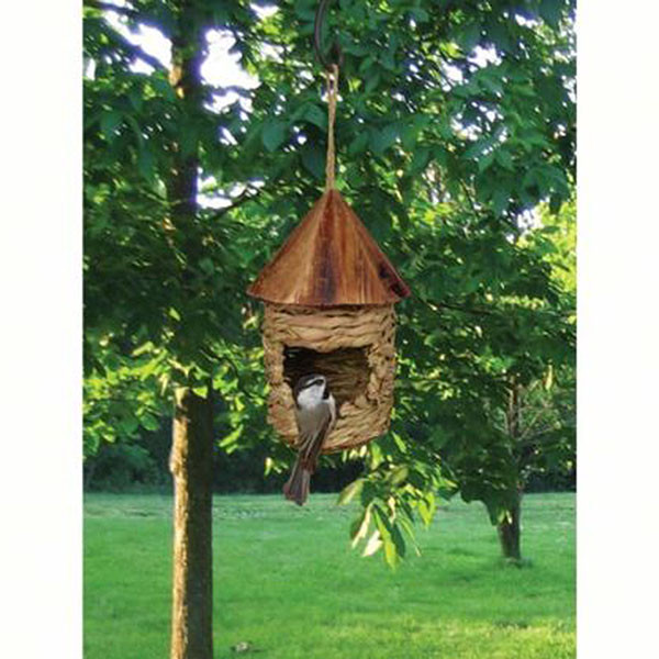 Small Hanging Grass Twine House With Roof   2shopper.com