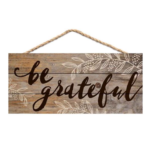 Be Grateful Hanging Sign    2shopper.com