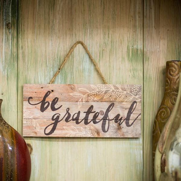 Be Grateful Hanging Sign  | 2shopper.com