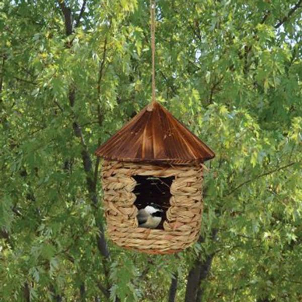 Large Hanging Grass Twine Bird House