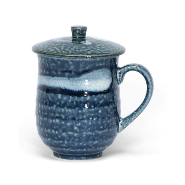 Blue & White Covered Mug