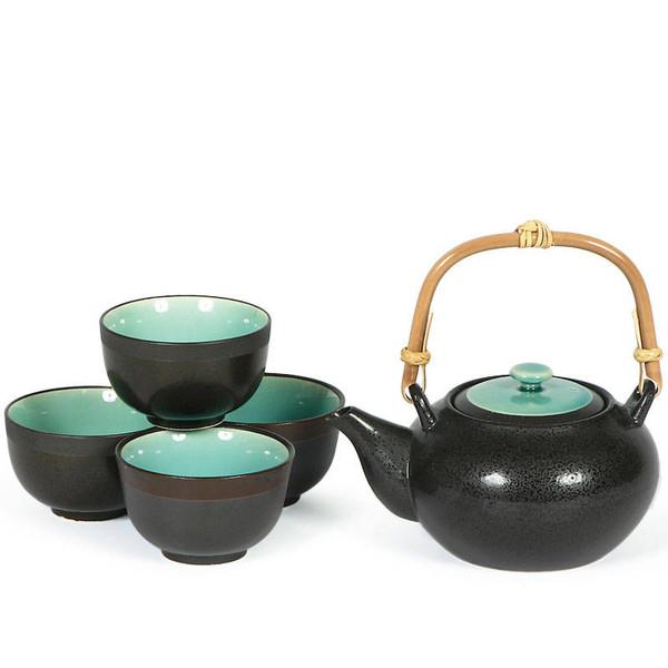 Ocean Blue Five Piece Tea Set