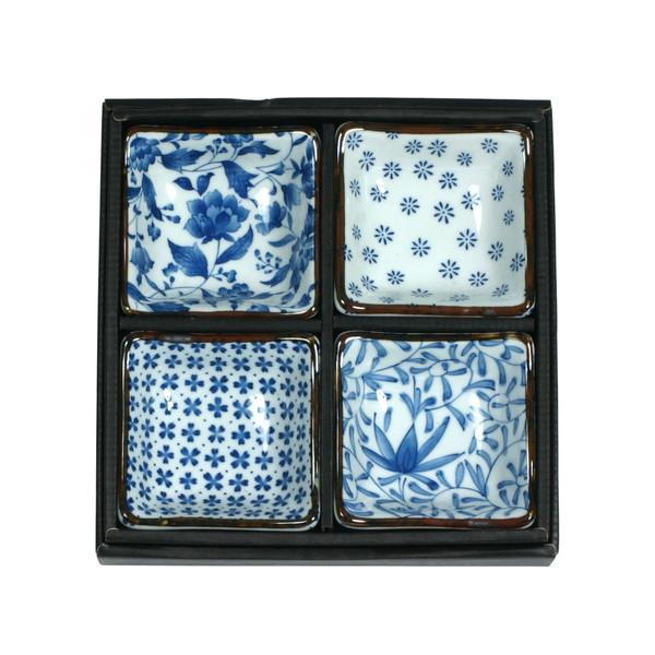 Blue & White Sauce Dish Set