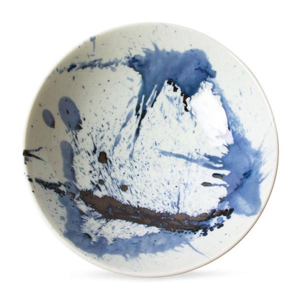 Blue Sumi Serving Bowl
