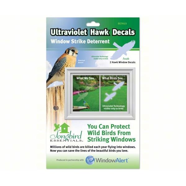 Window Alert Transparent Hawk Decal