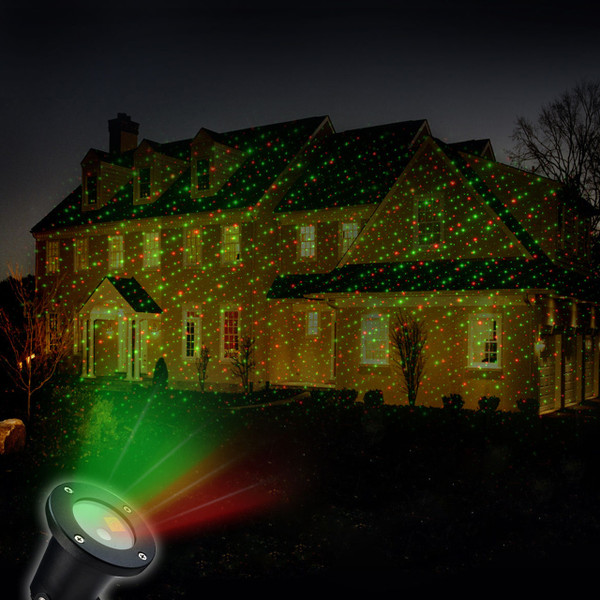 Solar Powered Christmas Laser Light Projector